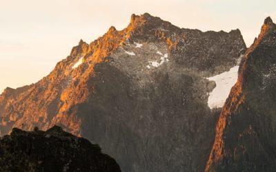 Mount Speke with the last bit of glacier left