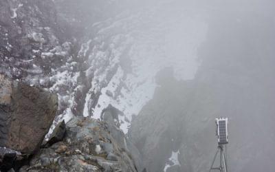 A camera monitoring the glacial retreat