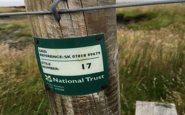 GR on fence post