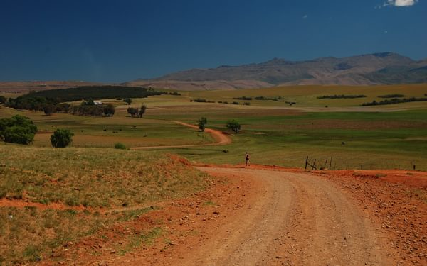Orange sandy roads