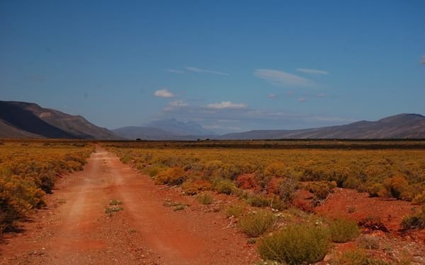 Red sand roads