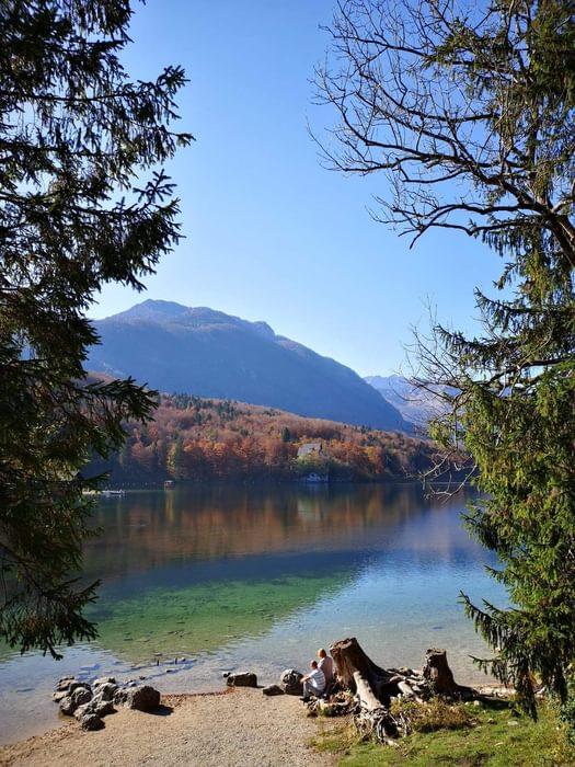 Lake Bohinj in autumn, Slovenia