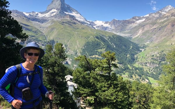 Lesley in the Alps