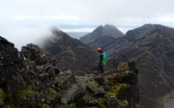 The cloud lifts on the southern part of the Cuillin