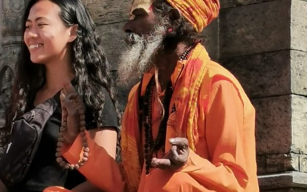 A religious man at Pashupatinath, a sacred Hindu site in the centre of Kathmandu
