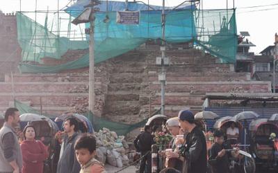 Earthquake damage in Durbar square