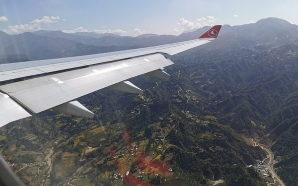 Landing at Kathmandu. I was so excited that, had I been relying on 35mm films, I would have used up all my photos before arrival.