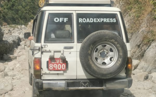Our ancient 'deluxe' vehicle coped remarkably well with the 'roads'