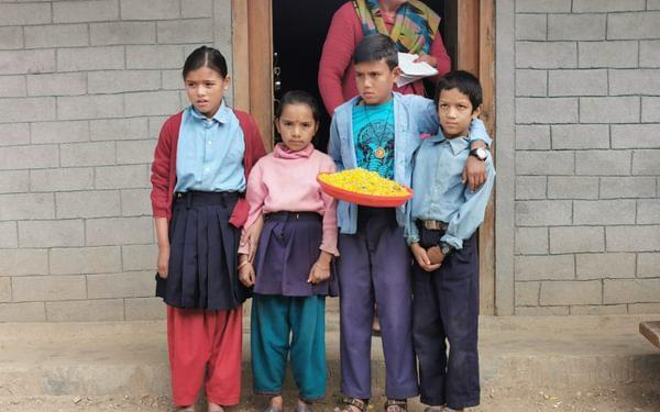 Schoolchildren waiting to dance