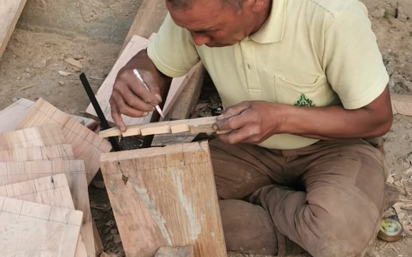The carpenter and his handmade tools