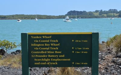 Rangitoto DOC Sign