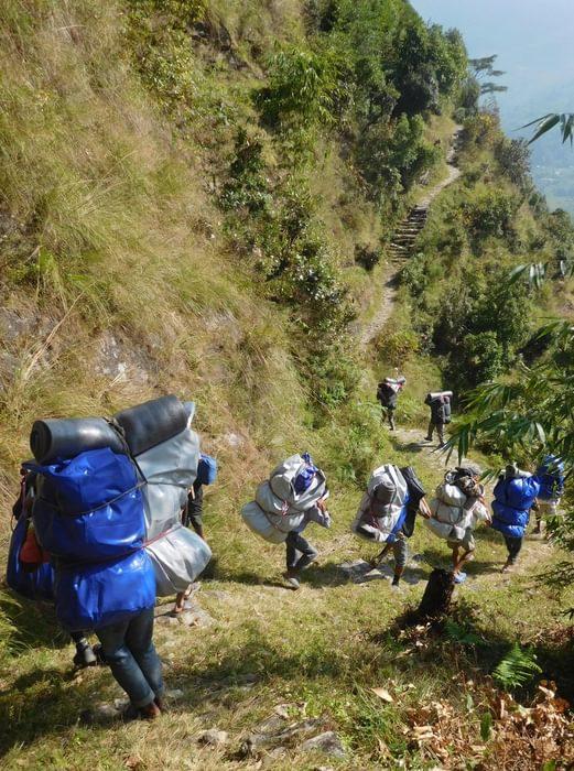 Well laden porters