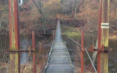 suspension bridge on Varėna-Druskininkai