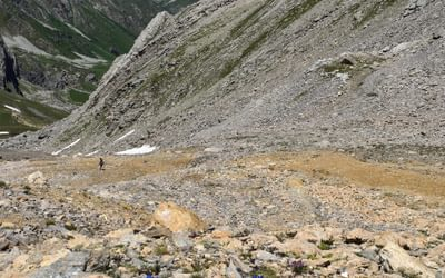 Descent from the Colle di Vers