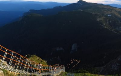 staircase in the Ceahlău Mountains
