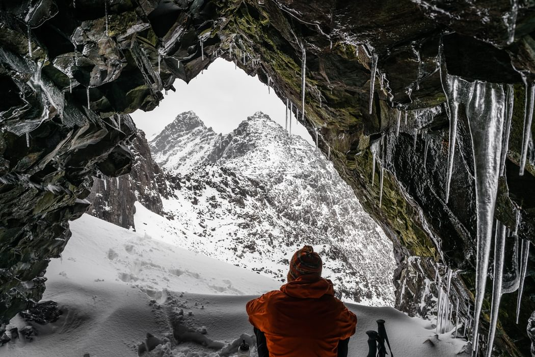 icicle-filled cave
