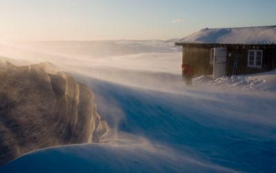 Glorious winter scenes in Huldreheimen, Norway