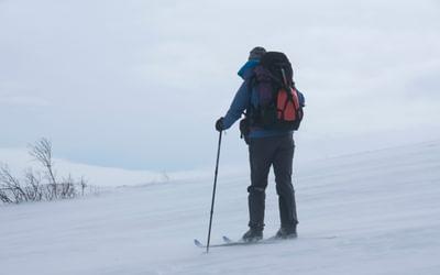 Skiing into an adverse headwind