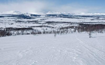 Skriurusten, on the bank of a large Scandinavian lake