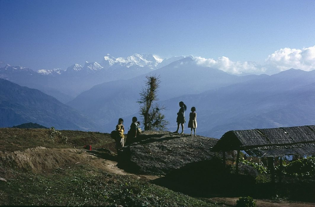 Local children in the Kangchenjunga foothills