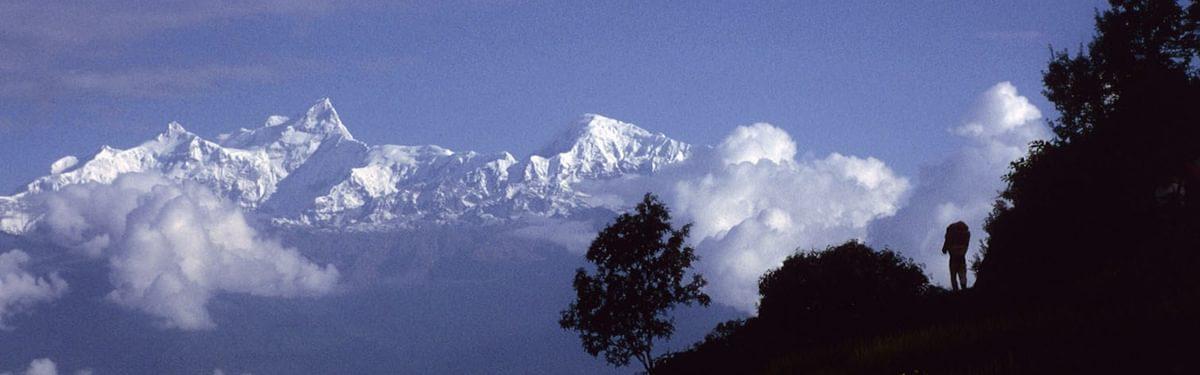 Trekking in the Himalayan foothills