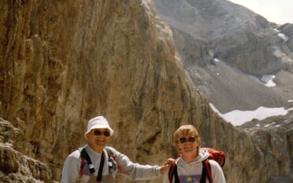 With my father at the Breche de Roland Pyrenees
