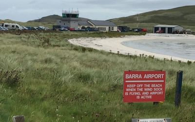 Barra Airport on the beach