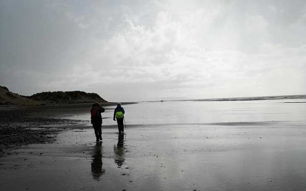 Richard Tyler  Beach scene on the Harlech section of the Wales Coast Path last October.