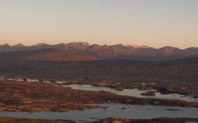 Rannoch Moor, view to Ben Nevis, daybreak