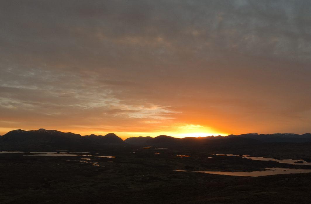 Sunset over Rannoch Moor