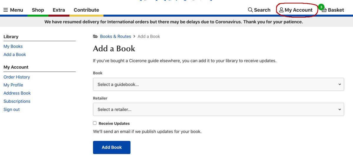 Adding a book to your library copy