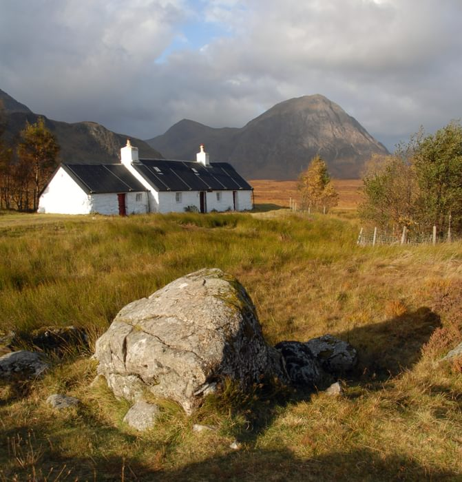 Black Rock cottage and Buachaille Etive Mor