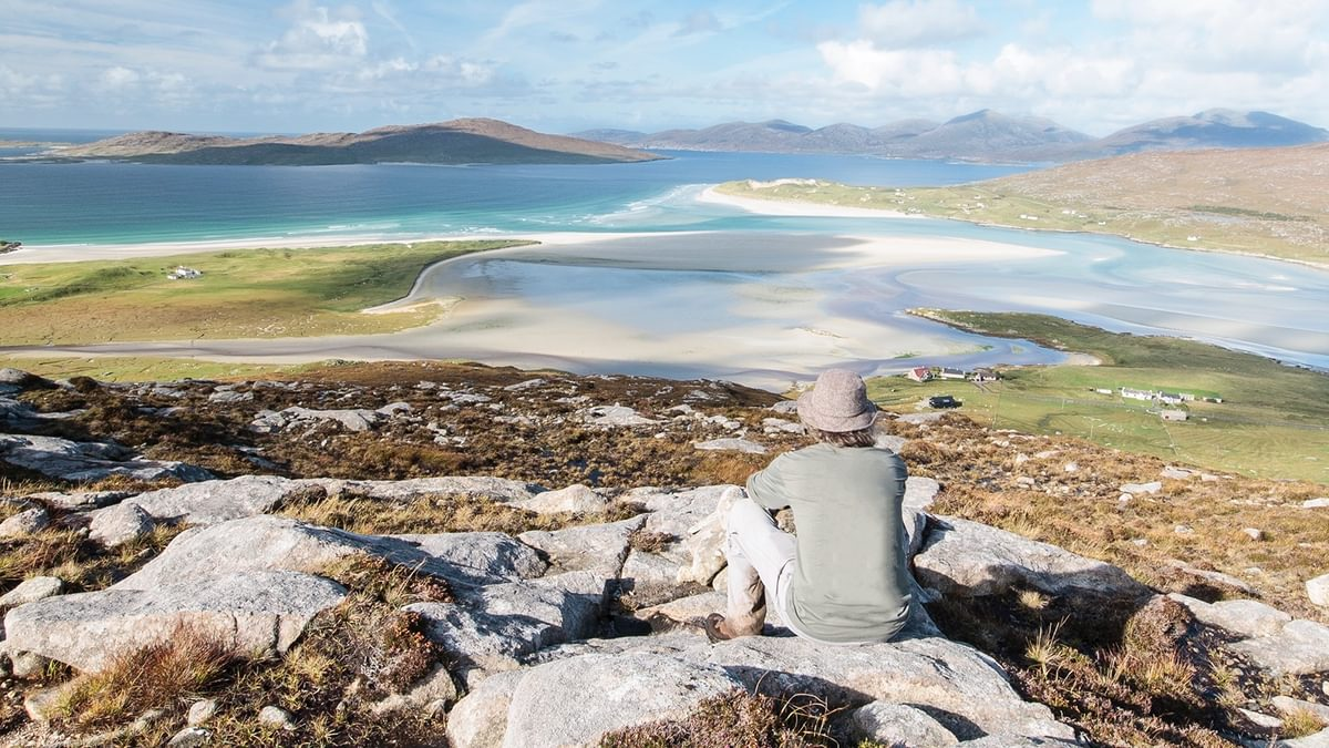 Looking Across To Taransay From The Summit Of Carran