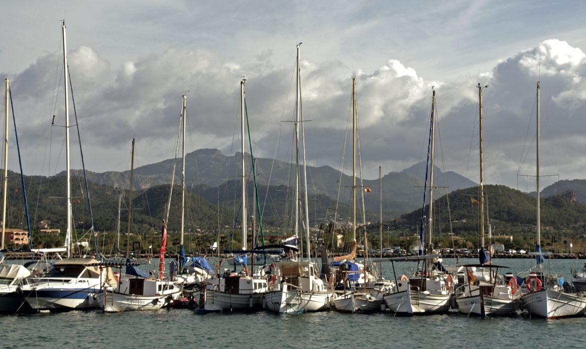 Marina At Port D Andratx With Mola De S Esclop And Galatzo Beyond
