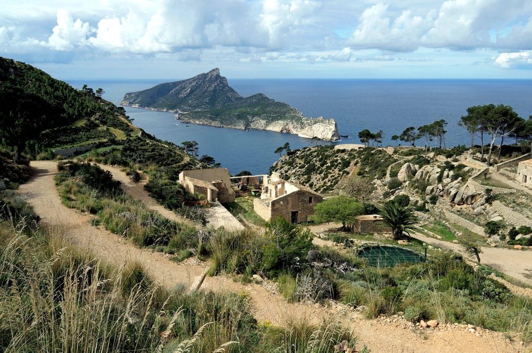 The Ruined Monastery Of La Trapa And The Island Of Sa Dragonera