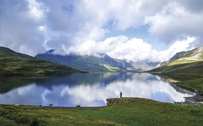 The Tranquil Tannensee Above Engstlenalp