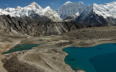 Imja  Khola Valley Seen From  Kongma  La About 5529M  Makalu 8485M The Fifth Highest Mountain On  Earth Crowns The Others In This View