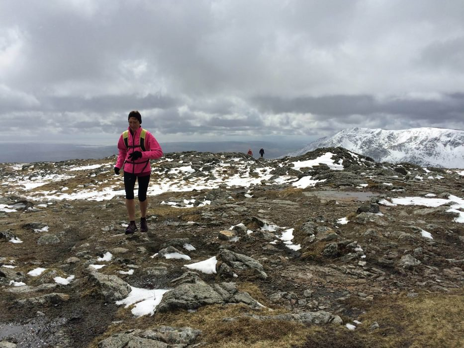 Winter Fell Running In The  Lake  District
