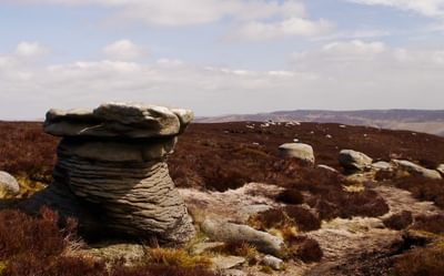 The  Druid  Stone On  Kinder  Scout