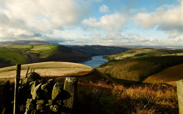 The High Moorlands Of The  Upper  Derwent  Valley Seen From Below  Whinstone  Lee  Tor