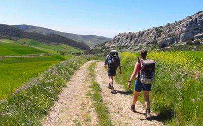 Striding Out On The Trail Towards  Valle De  Abdalajis