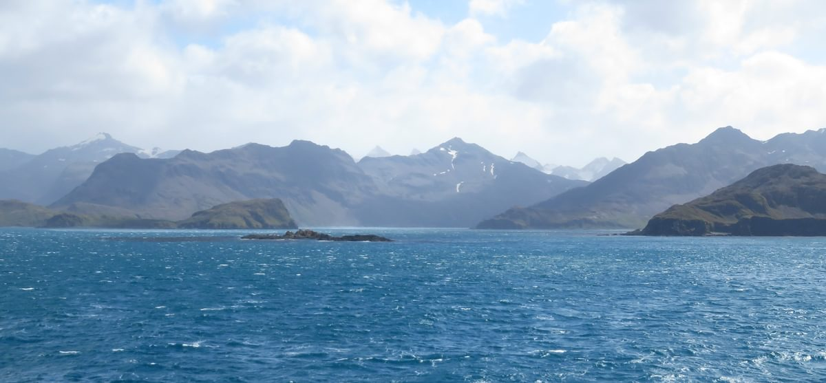 Mountains Of  South  Georgia Seen From The  Atlantic