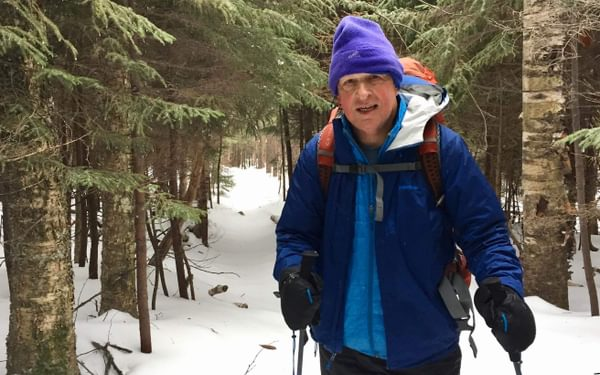 The Author On The Trail Before The Conditions Worsened