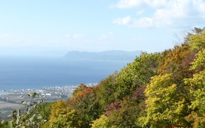 Beautiful Autumnal Colours While Climbing Mount Usu Zan