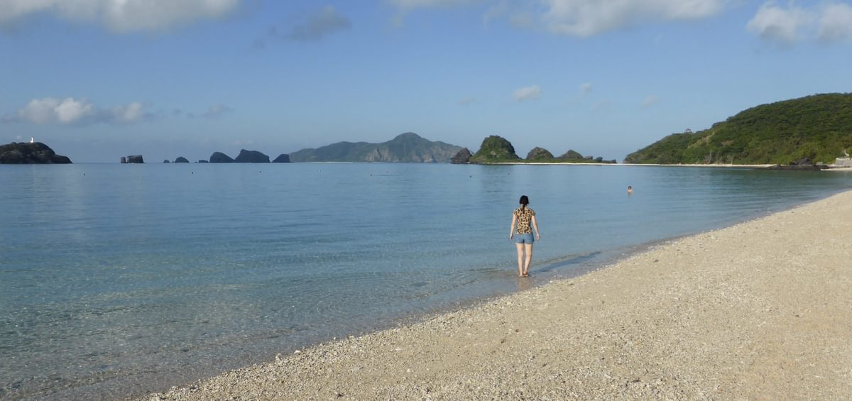 Deserted White Beaches Of Zamam Were A Wonderful Place To Relax