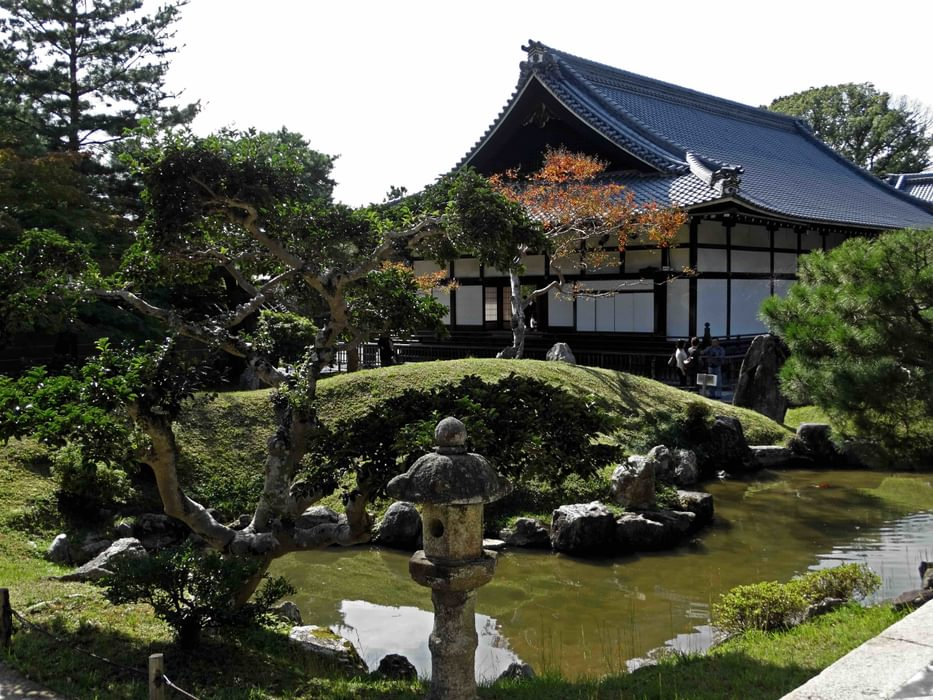 Typical Japanese Style Temple And Gardens