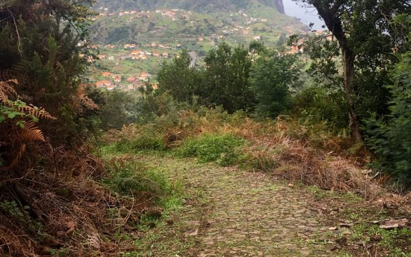 2Km Of Cobbled Path Swept Us Towards The Towering Block Of  Penha D  Aguia Rising From The Sea