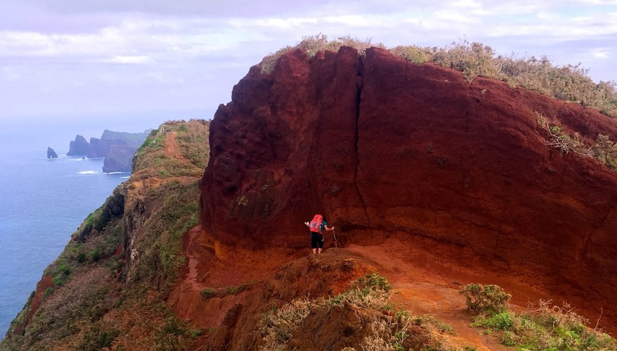 The Vivid Colours Of The Volcanic Landscape Of The  Ponta De  Sao  Lourenco Peninsular