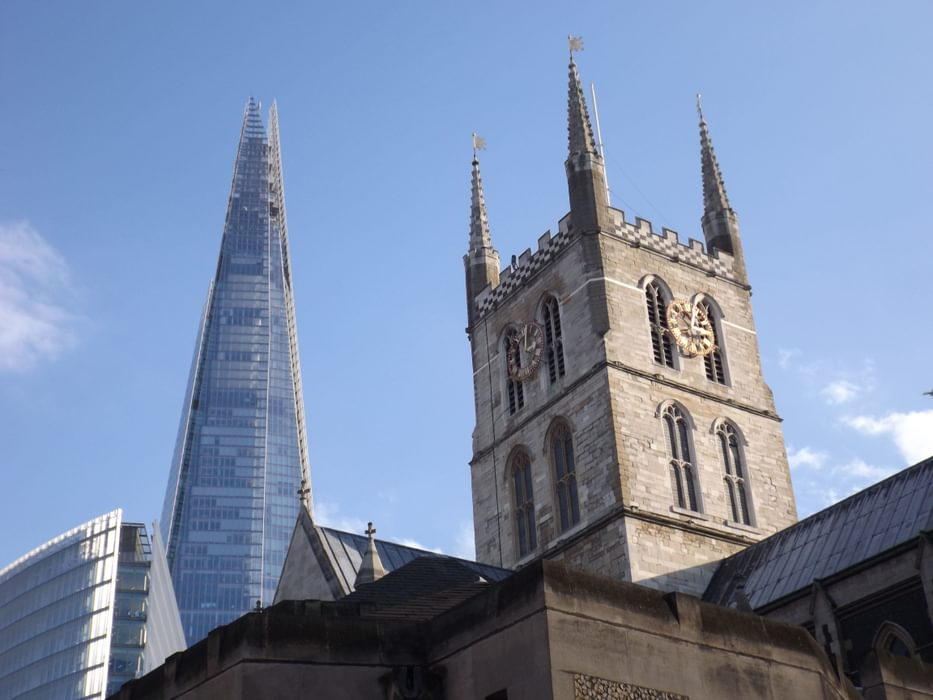 The  Shard And  Southwark  Cathedral Tower