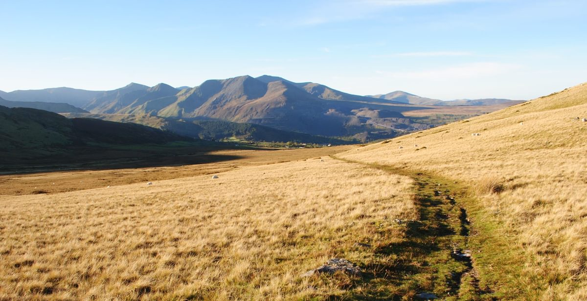 The  Glyderau From The Path Into The  Carneddau